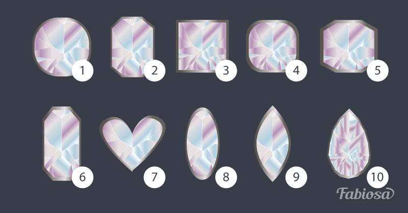 Выберите огранку бриллианта и узнайте тайные стороны своей личности
