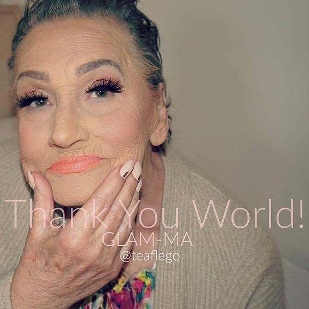 80-летняя бабушка попросила внучку сделать ей макияж и проснулась знаменитой