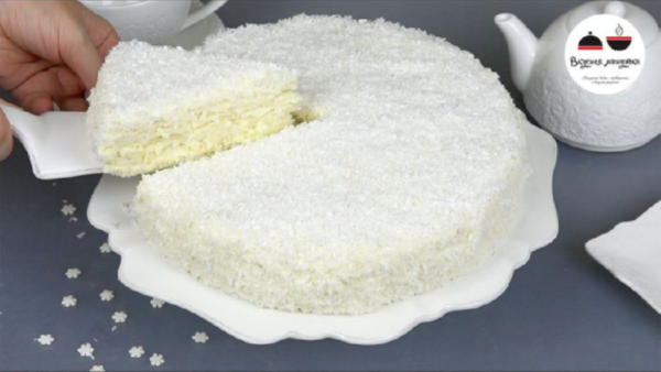 Торт «Снежинка» - новогодняя сказка