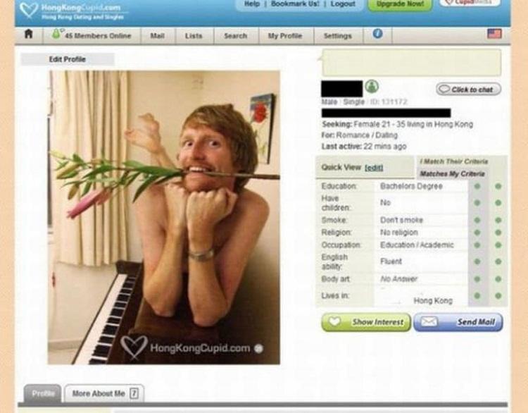 Фотографии с профилей на сайтах знакомств, которые заставят вас улыбнуться